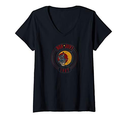 Women's Bon Jovi 1987 V-Neck T-Shirt in 3 Colors