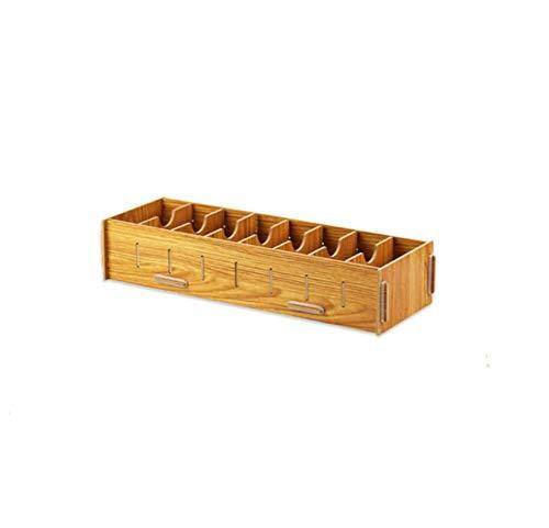 WSQ Tarjeta de escritorio de oficina de clasificación del estante del negocio de madera de varios red de caja de la tarjeta de visita creativa del asiento de gran capacidad de almacenamiento de carpet