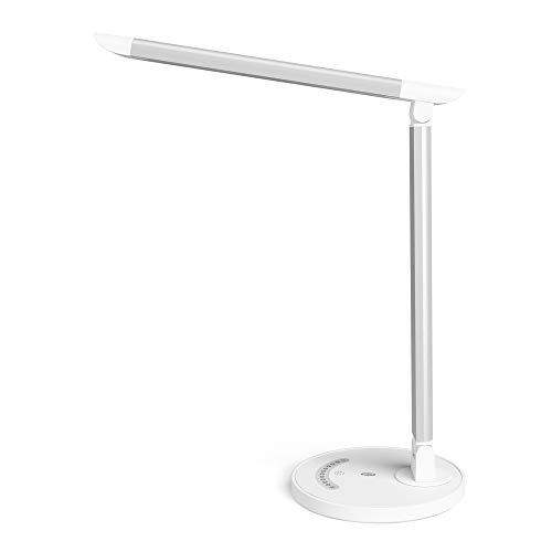 TaoTronics デスクライト LED 電気スタンド 7段階調光 5段階調色 チラつきなし 自然光 視力ケア USBポート付け メモリ機能 省エネ 勉強 仕事
