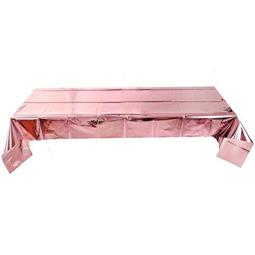 EDCV tafelkleed tafelkleed rechthoekige glitter tafelkleden bruiloft verjaardagsfeestje decoratie, rose goud