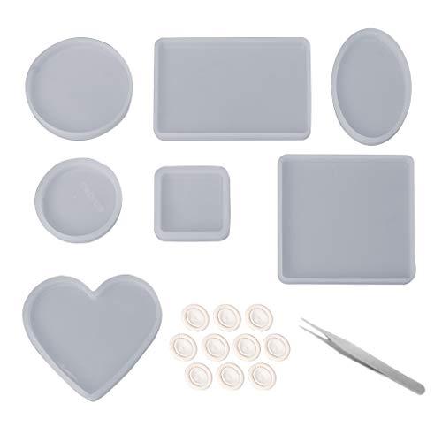 1 juego de moldes de resina epoxi de cristal para manualidades herramienta...
