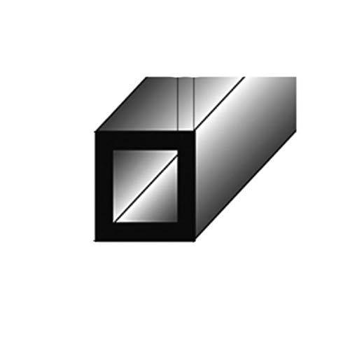 1 mètre Tube carré / Profilé de montage, 15 x 15 x 1,5 mm, en aluminium