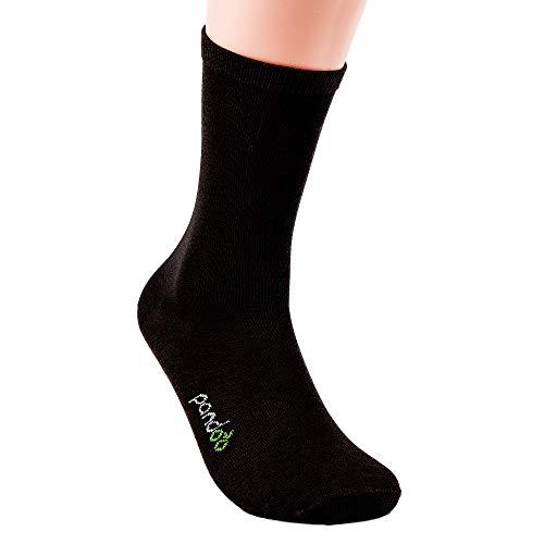 Bambus Business Socken - 6er Pack, pandoo Größe Größe 43-46, Farbe Schwarz