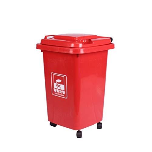Ashcan casero Cubo de Basura extraíble, Color múltiple con Ruedas Contenedor de Basura Comercial Saneamiento Casa Cocina Cubo de Limpieza de Gran Capacidad Restaurante ashcan