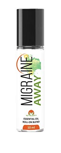 Migraine Away Migraine Relief Essential Oil Roll On, All Natural Lavender, Peppermint and Marjoram, Aromatherapy Oil Blend Headache Soother (10ml)