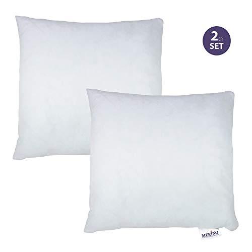 Merino-Betten 2er Set Kissen 50x50   Dekokissen   Couchkissen   Kissen mit Reißverschluss (weitere verfügbar)