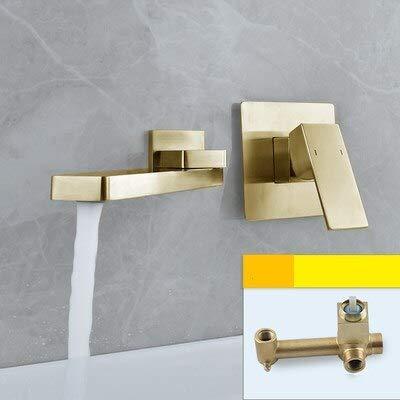 Grifo Nuevo grifo de lavabo para baño, mezclador de agua de latón, cepillo para grifo, cromo dorado, negro, lavabo de rotación oculta, grúa mezcladora para fregadero de agua
