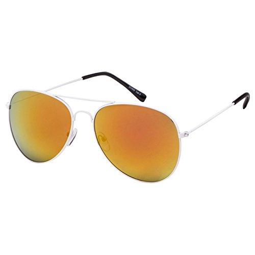 Ciffre EL-Sunprotect® Pilotenbrille Fliegerbrille Sonnenbrille Brille Top Design Weiß Bunt Verspiegelt