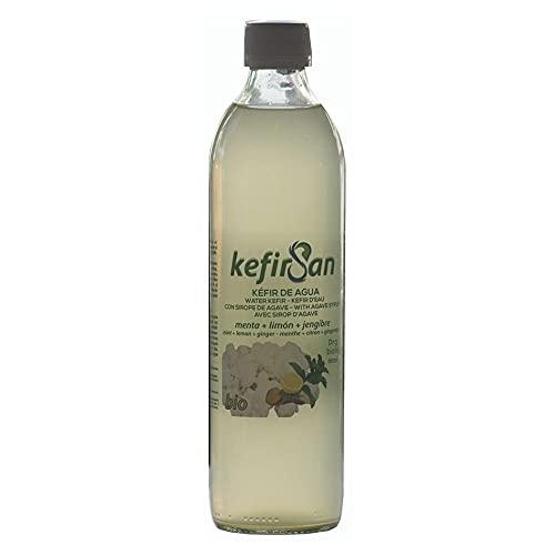 Kefirsan, Kefir de agua sabor menta, limón y jengibre Ecológico - 3 de 500ml - Total: 1500ml