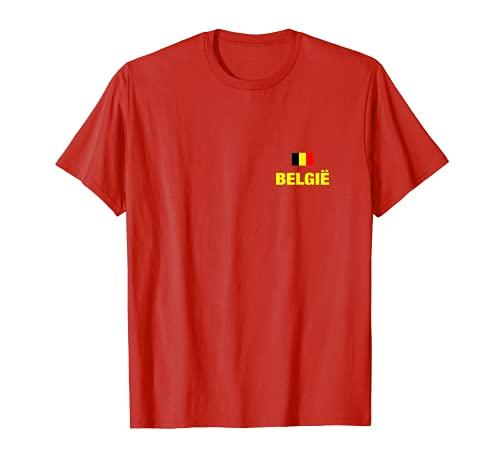 Belgien België Belgium Fußball Trikot belgische Flagge Fan T-Shirt