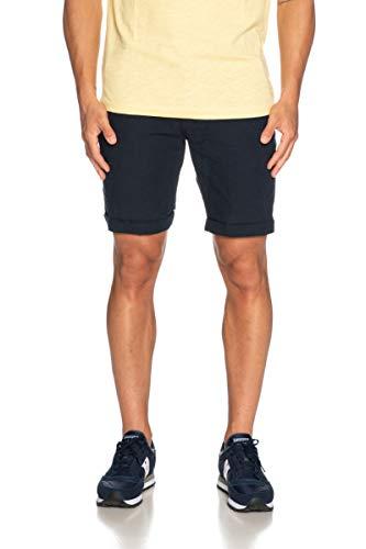 SELECTED HOMME Herren SLHSTRAIGHT-Paris Linen W Shorts, Blau (Dark Sapphire Dark Sapphire), W(Herstellergröße: L)