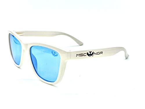 Gafas de sol MOSCA NEGRA ® hombre mujer modelo ALPHA SNOW Blue polarizadas
