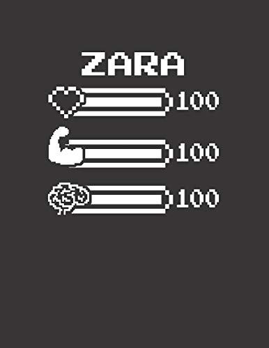 ZARA: Pixel Retro Game 8 Bit Design Blank Composition Notebook College Ruled, Name Personalized for Girls & Women. Gaming Desk Stuff for Gamer Girls. ... Gift. Birthday & Christmas Gift for Women.