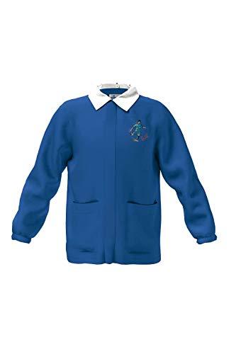 siggi Casacca grembiule scuola bambino bluette - DISEGNO/RICAMO VARIABILE (7 Anni)