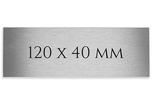Edelstahl Schild V2A 120 X 40 X 1,5 mm Lasergravur Wunschtext Schild Türschild Klingelschild Klingelplatte Briefkastenschild Briefkasten