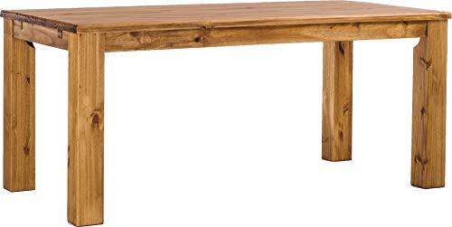 Esstisch Rio Classico 180x90 cm Brasil Massivholz Pinie Holz Esszimmertisch Echtholz Größe und Farbe wählbar ausziehbar vorgerichtet für Ansteckplatten Brasilmöbel