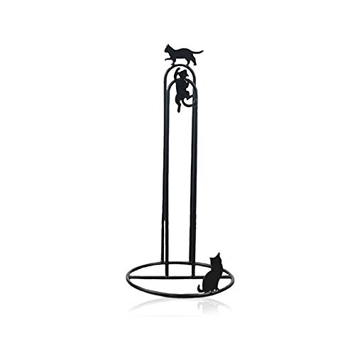 TentHome Vintage Küchenrollehalter Stehend Antik Rollenhalter Küchen ohne Bohren Klopapierrollenhalter Ersatzrollenhalter Landhausstil WC Halter für Küchenrolle, Toilettenpapier (Katze)