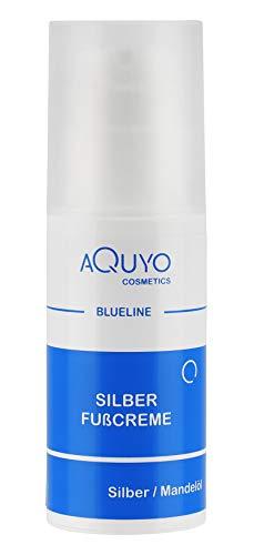 Blueline Silber Fusscreme für trockene, empfindliche und rissige Füße | Fußcreme mit Microsilber bei Juckreiz & Hornhaut | Fußpflege Creme zur Behandlung von Fußgeruch & Schweißfüße (100ml)