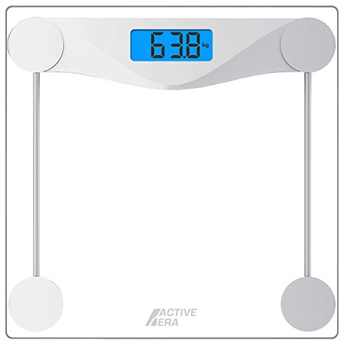 Active Era Ultra Slim Digital Bathroom Scales with High Precision Sensors and Tempered Glass (Stone/kgs/lbs)