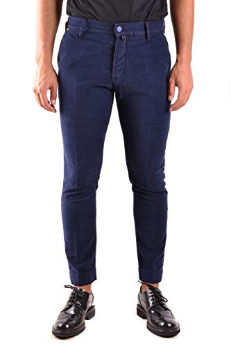 Jacob Cohen Luxury Fashion Uomo J66600715 Blu Elastan Pantaloni | Stagione Permanente