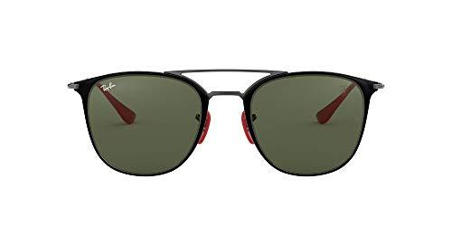 Ray-Ban Junior Unisex-Erwachsene 0RB3601M F02031 52 Sonnenbrille, Grau (Gunmetal On Top Black/Green)