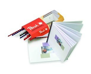Peach PB410-03 Plastikbinderücken DIN A4, 10 mm, 65 Blatt, 100 Stück, rot