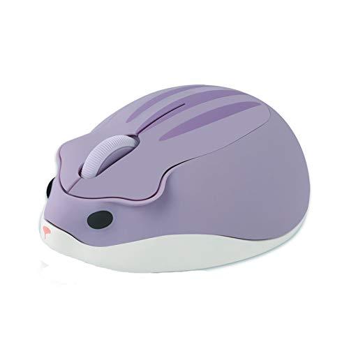 3C Kingdom Cute Animal Series - Ratón óptico inalámbrico (1200 ppp), diseño de hámster
