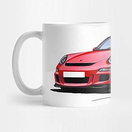 Llynice Porsche 911 (997) GT3 rote 11 Unze-Kaffeetasse