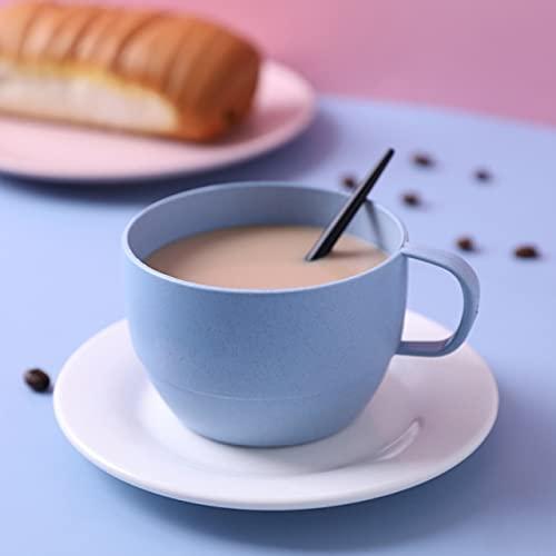 SHIM Tazas de café de 220ml Tazas de café con Asas para Bebidas Calientes Taza Ambiental Driking