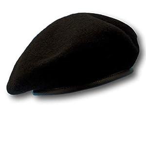 ベレー帽 ブラックベレー 帽子 ベレー キャップ サバゲー 装備 SWAT ゲバラ 特殊部隊 黒 L