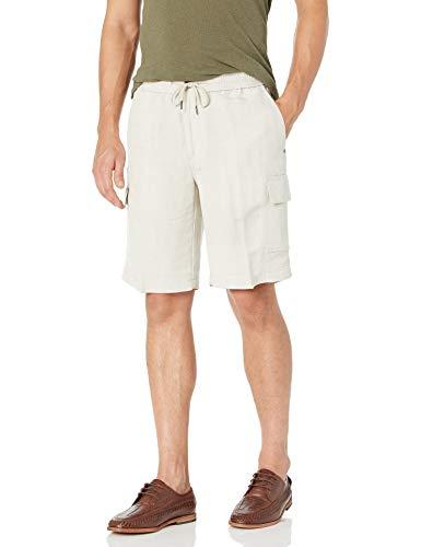 Cubavera Men's Big-Tall Men's Elastic Drawstring Cargo Short, Natural Linen, 4X
