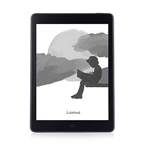 Likebook P78 E-reader + Quad-core 2GB + 32GB + (1872 x 1404) Equipped with Eink Carta Touchscreen + Android 8.1 + Support Google Play [E-book reader body + leather case lean]