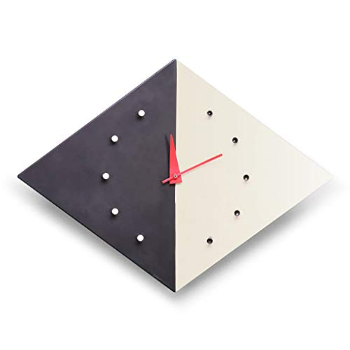 EA-Miao Kreative Wanduhr Kite Clock Uhr Wohnzimmer Quadratische Wanduhr Diamantförmige Wandkarte Dekoration Uhr Stumm- Batteriebetrieben