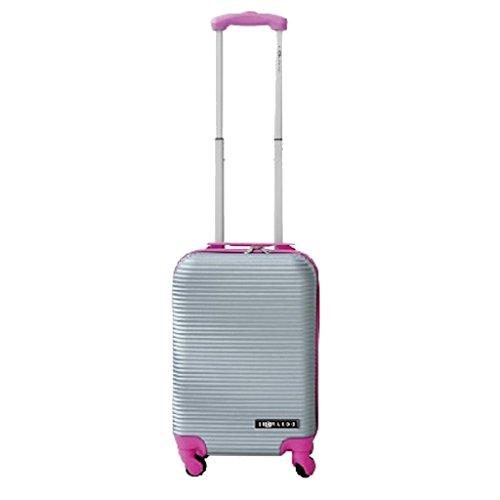 Leonardo Handbagage koffer duo-tone zilver / fuchsia (DSS-DS40937)