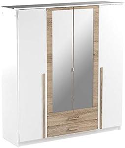 Wimex Kleiderschrank/ Drehtürenschrank Rio, 2 Schubladen, (B/H/T) 180 x 197 x 58 cm, Weiß