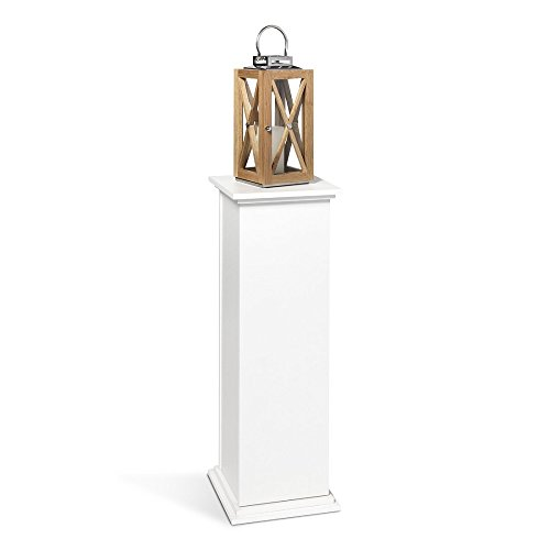 FMD Möbel Essex 2 Dekosäule Holz Weiß 30x30x89 cm