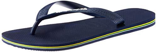 Havaianas Brasil Logo, Unisex-Erwachsene Zehentrenner, Blau (Navy Blue), 45-46 EU (43/44 UK)