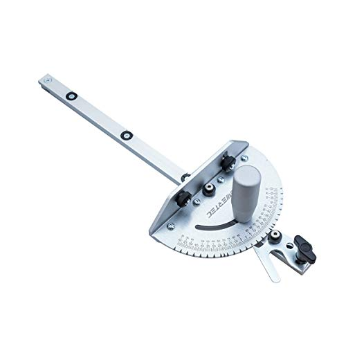 POWERTEC 71142 Universal Table Saw Miter Gauge Assembly/Miter Gauge with 27 Angle Stops