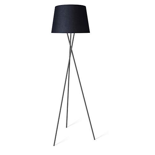 LED Stehleuchte Tripod Stehlampe schwarz Ø45cm inkl. E27 Leuchtmittel 4W = 40W warmweiß mit Schalter