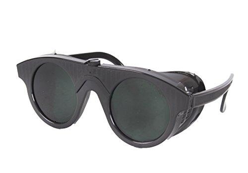 WELDINGER Schweisserbrille schwarzer Kunststoff DIN5 Autogenschutzbrille Schweißbrille