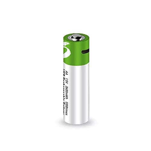Hochleistungs Batterien1,5 V AA 2600Mah USB Wiederaufladbarer Li-Ionen-Akku Für Ferngesteuerte Maus Kleiner Lüfter Elektrische Spielzeugbatterie + Kabel,4pcs