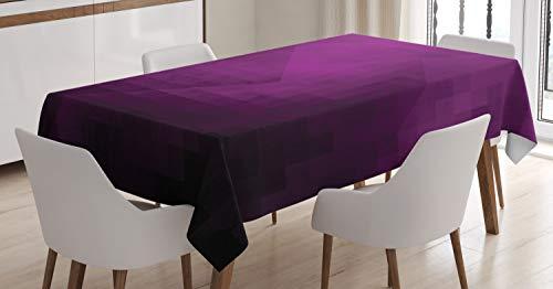 ABAKUHAUS Berenjena Mantele, Cuadrados de Arte Moderno, Resistente al Agua Lavable Colores No Destiñen Personalizado, 140 x 200 cm, Púrpura