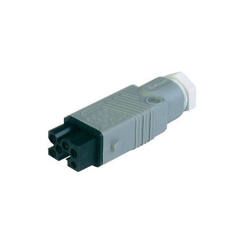 Preisvergleich Produktbild Hirschmann STAK 5 Netz-Steckverbinder STAK Serie (Netzsteckverbinder) STAK Buchse,  gerade Gesamtpolz