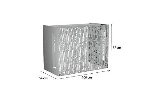 Cubierta de aire acondicionado de aluminio, compatible con todas las marcas – ocultar y proteger tu climatizador., blanco
