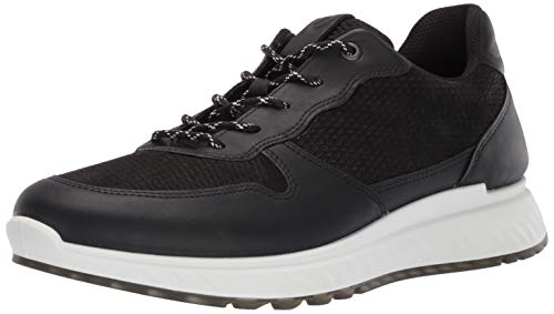 ECCO Men's St.1 Sneaker, Black/Black Perforated, 44 M EU (10-10.5 US)