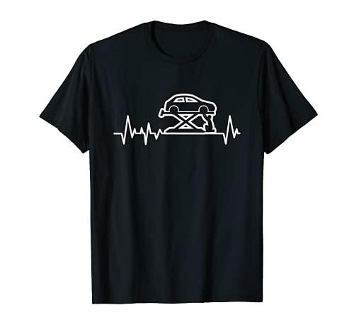 Schrauber Mechaniker Herzschlag Wagenheber Werkzeug Geschenk T-Shirt