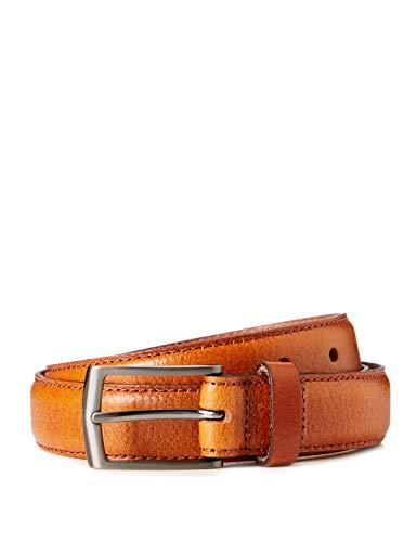 Marca Amazon - find. Cinturón para Hombre, Marrón (Tan), M, Label: M
