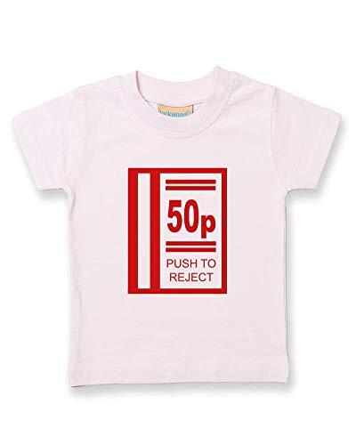 Ice-Tees - Push to Reject- Arcade Slot Machine Icône - T-shirt enfant bébé garçon - Rose - 2-3 ans