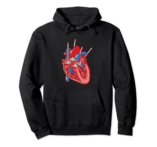 Corazón de la válvula del motor Sudadera con Capucha