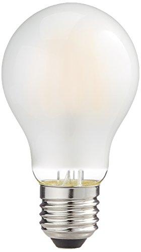Les emos z74275 A +, ampoule LED Filament A60, verre transparent 8,5 W, E27, mat, 6,5 x 6,5 x 13 cm